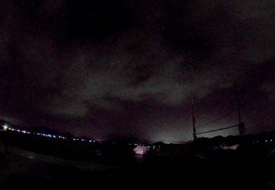 夜の久美浜湾