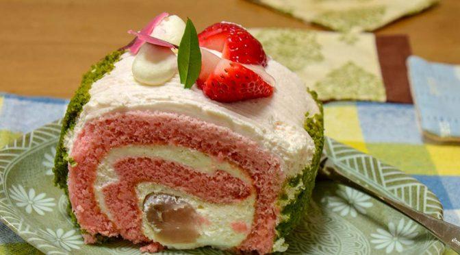 【ケーキ】桜のロールケーキ'18 @東加古川montblanc[閉店]