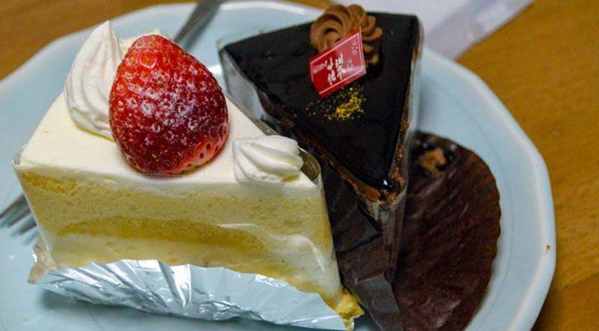 【ケーキ】花梨(かりん)ショートケーキとザッハトルテ